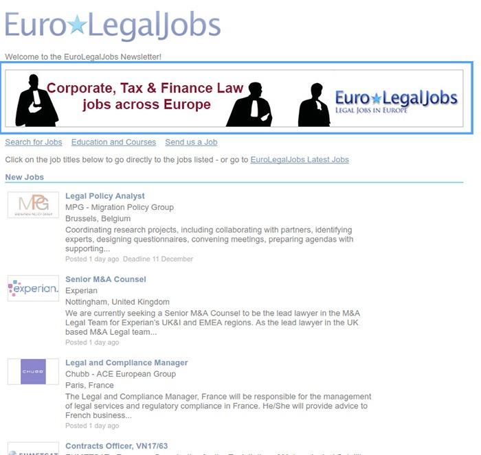 Newsletter Banner Example